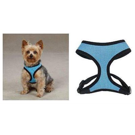 Anti Pull Breathable Mesh NO CHOKE Dog Harness Selections - 10 Colors & 5 Sizes (Pastel Blue Harness,Small) (Dog Harness Pastel)