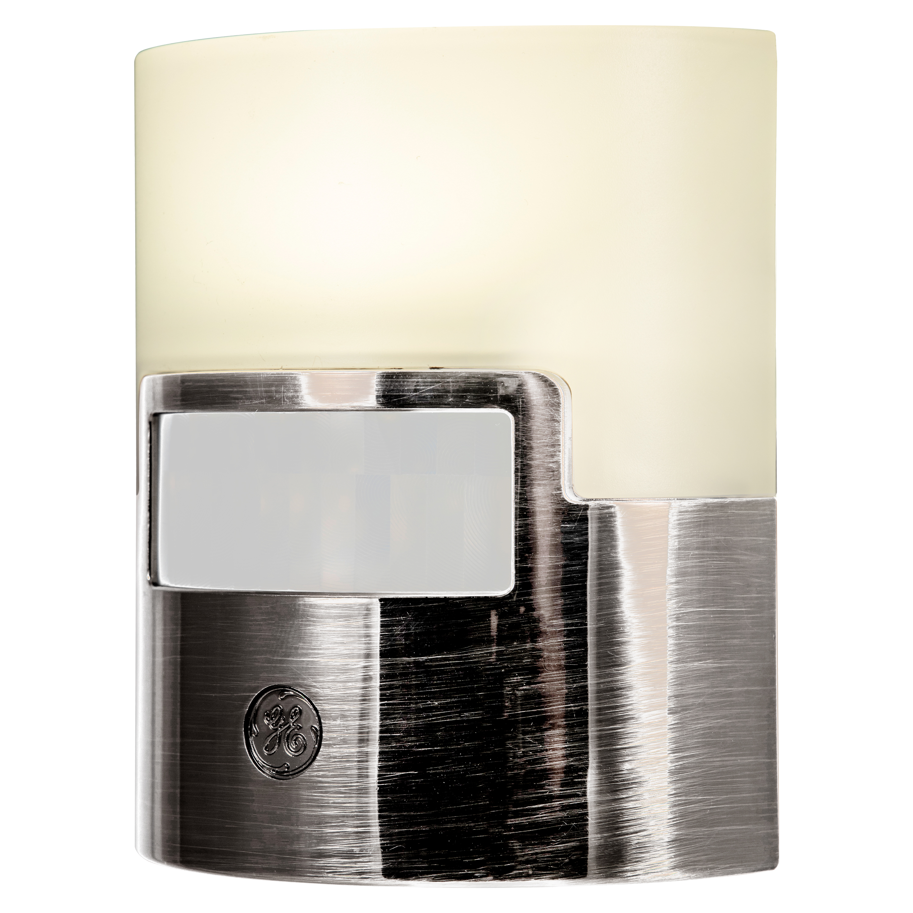 GE UltraBrite Motion-Activated LED Plug-In Night Light, 40 Lumens, Brushed Nickel, 30815