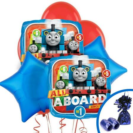 Thomas All Aboard Balloon Bouquet](Thomas Balloons)