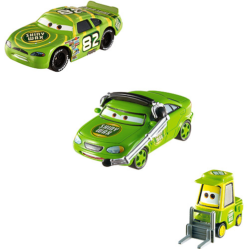 Mattel Cars Racing Vehicle 3-Pack: Shiny Wax, Shiny Wax P...