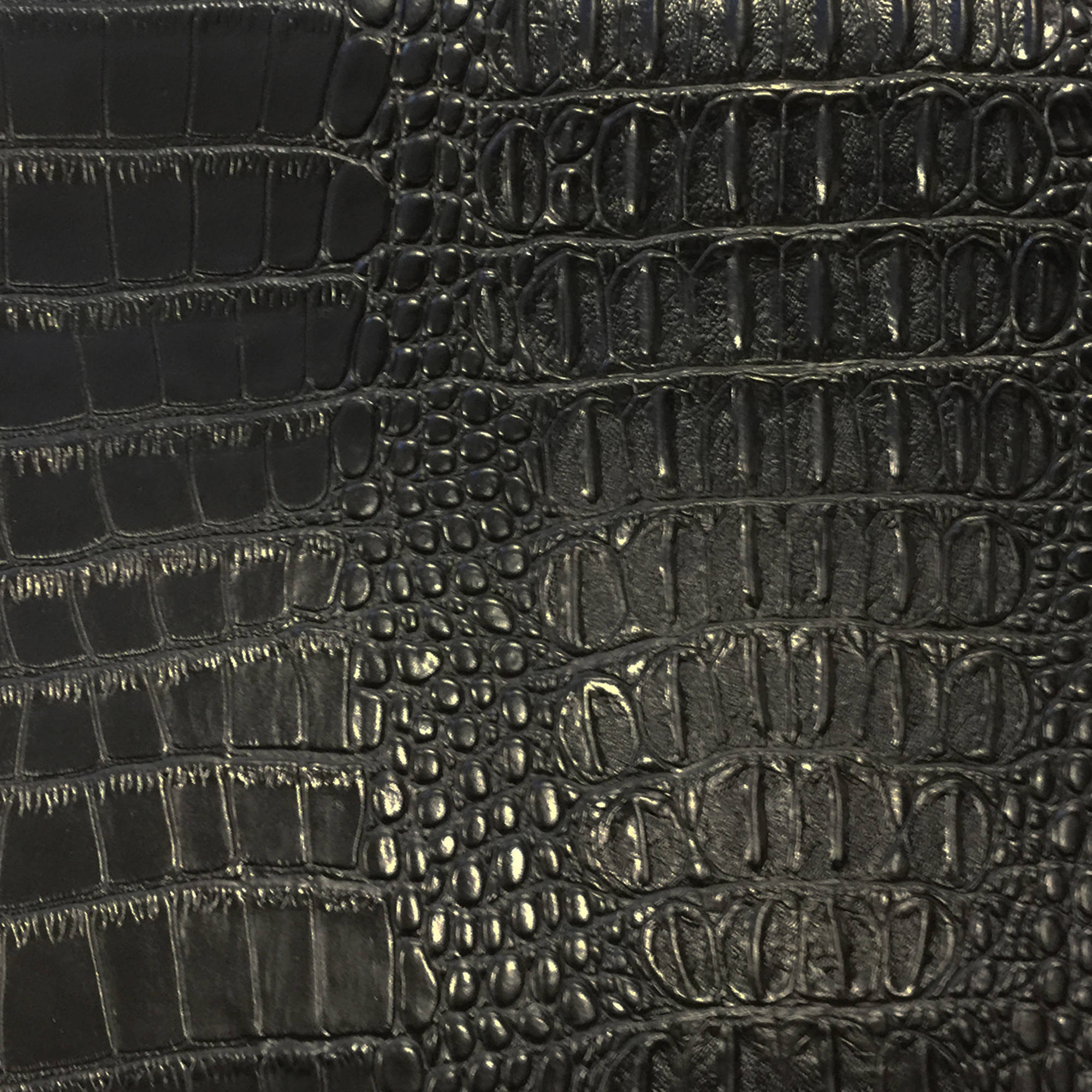 SHASON TEXTILE FAUX LEATHER CROCODILE PRINT UPHOLSTERY FABRIC, BROWN, Available In Multiple Colors