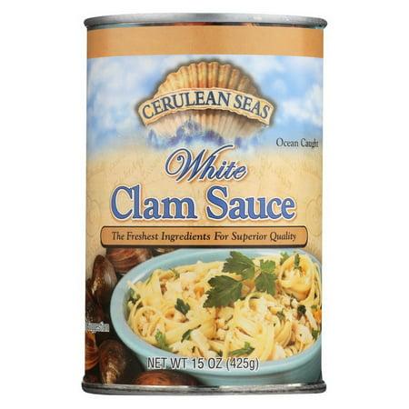 (Price/case)Cerulean Seas Sauce - White Clam - Case of 12 - 15 (Best White Clam Sauce For Pasta)