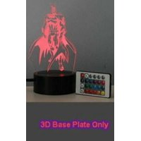 3D LED illusion USB 7 Color Table Night Lamp Light Bedroom Child Gift USA (DD-182 Batman (3D Face Plate Only))