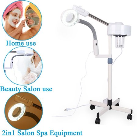 2in1 Facial Steamer LED 3X Magnifying Floor Lamp Machine Multifunction Spa Professional Humidifier Beauty Facial Clean Skin Care Tool