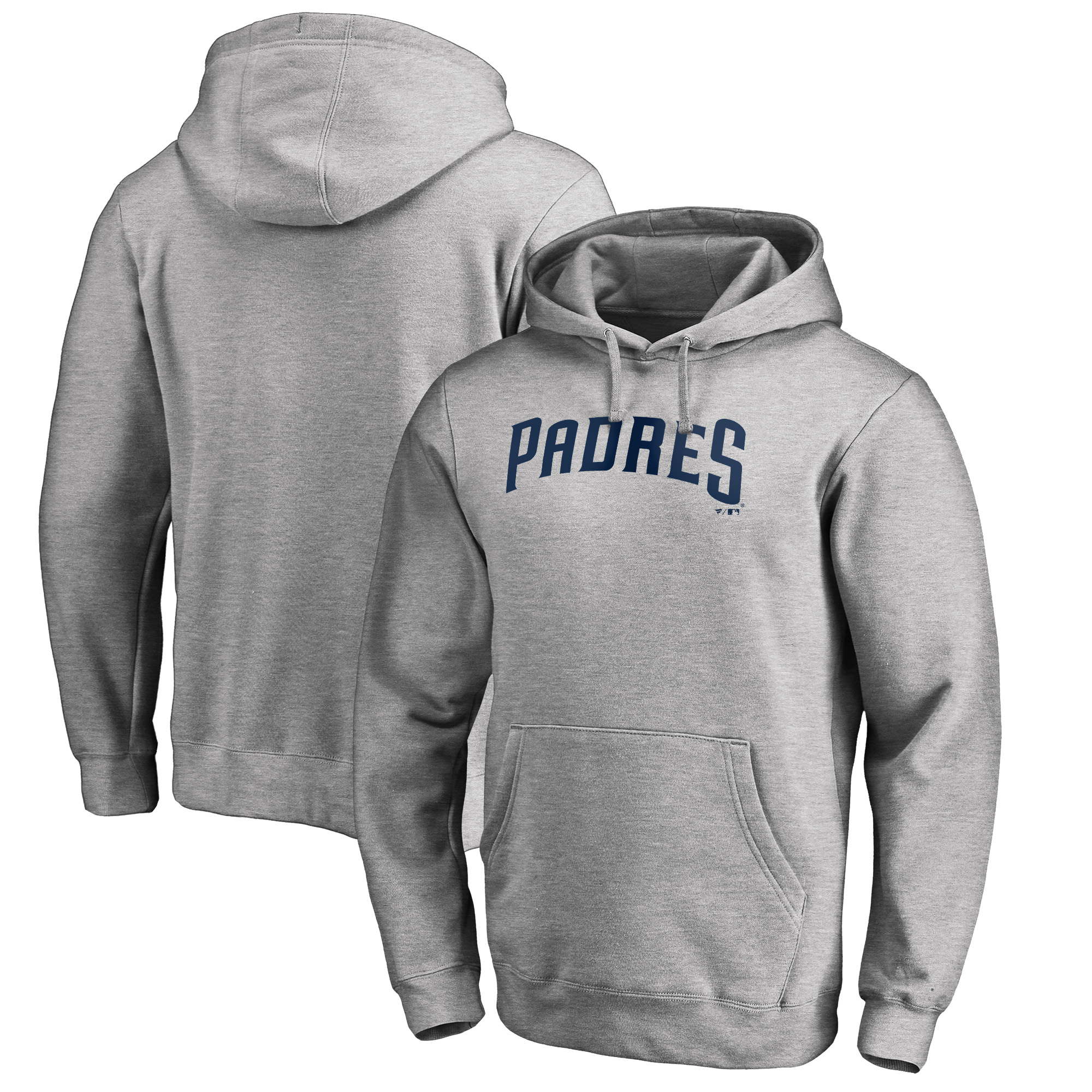 San Diego Padres Fanatics Branded Team Wordmark Pullover Hoodie - Heathered Gray