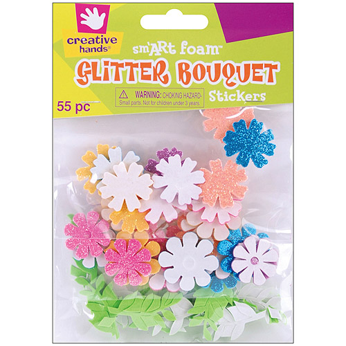 Foam Glitter Stickers, 55pk