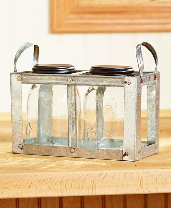 2-Jar Mason Jar Planter by