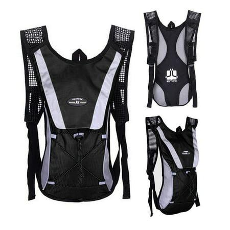 Water Bladder Bag Backpack Hydration Pack Hiking Camping 2L Bk