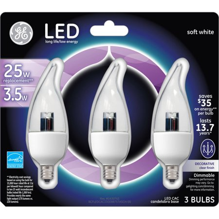 Ge Energy Smart Led 3 5w Crystal Clear Small Base Bulb