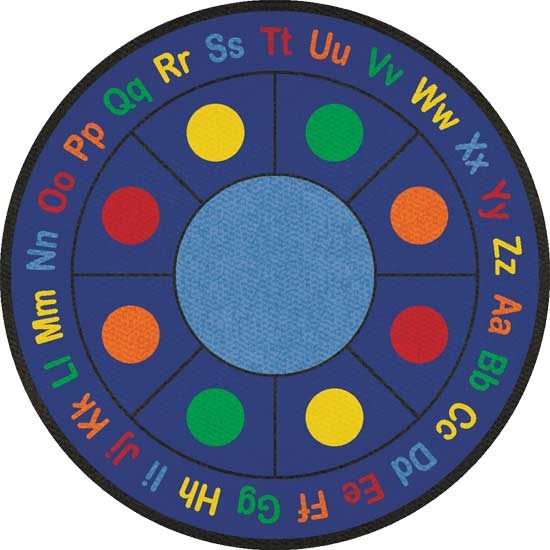 "ABC Dots Round Small, 6' 6"" diameter, Round"