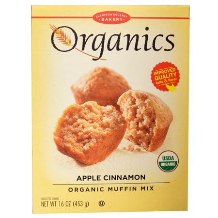 - European Gourmet Bakery, Organic Muffin Mix, Apple Cinnamon, 16 oz (pack of 4)