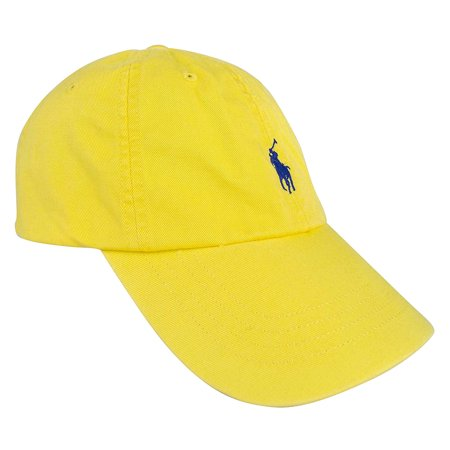 Polo Ralph Lauren Mens Classic Sport Cap (Yellow, One Size)