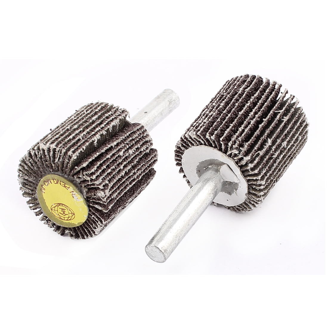2Pcs 80 Grit 2Cylindrical Grinding Polishing Flap Wheel Discs