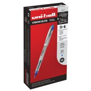 Uni-ball Vision Elite Rollerball Pens, Bold Point (0.8 mm), Blue, 12 Count