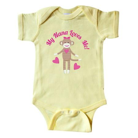 My Nana Loves Me Sock Monkey Infant Creeper](Sock Monkey Onesie Adults)