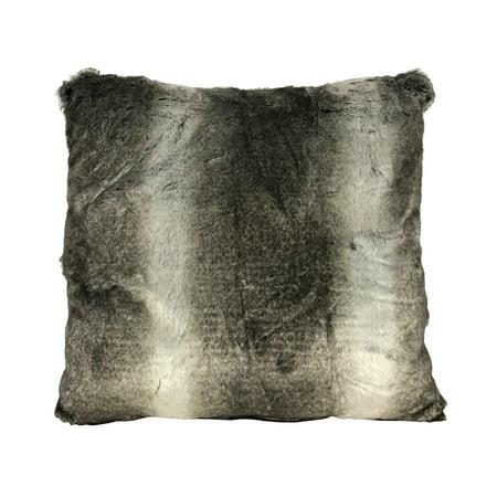 Better Homes & Gardens Ombre Stripe Faux Fur Decorative Toss Pillow, Multicolor