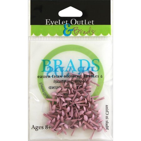 Eyelet Outlet Round Brads 4mm 70/Pkg-Pastel Pink Pink Punch Brads