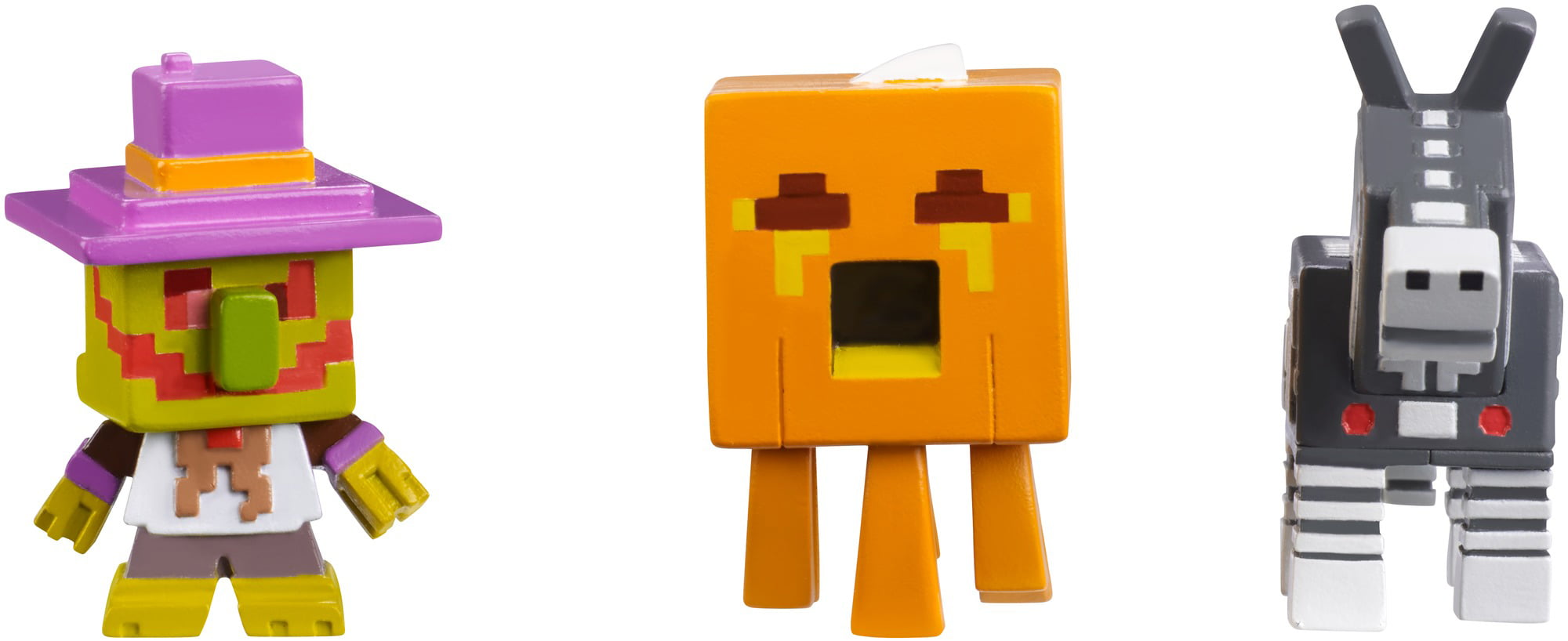 Minecraft Mini Figure Halloween Series 3-Pack Village Watcher, Pumpkin Gast, and Robot... by Mattel