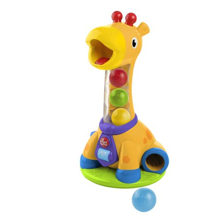 Bright Starts Spin & Giggle Giraffe Ball Popper Musical Activity - Busy Ball Popper