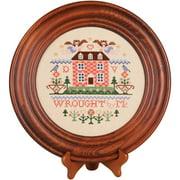 "Mahogany Crown Plate 11.5"" Round-Design Area 8"" Round"