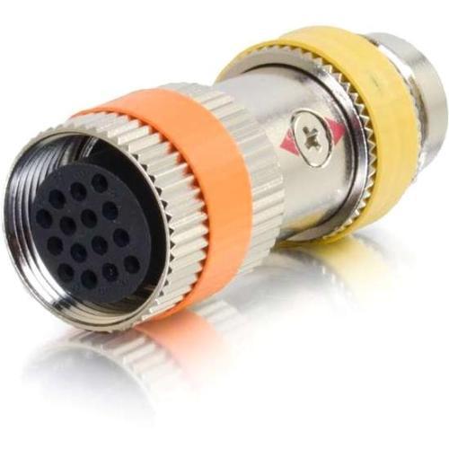 C2G RapidRun PC (Yellow) Runner to Multi-format (Orange) 15-pin Din Adapter - 1 x DIN Female Video - 1 x DIN Male Video