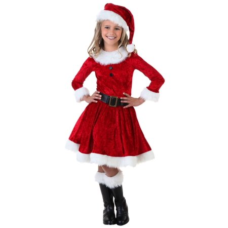 Girl Mrs. Claus Costume - Christmas Costume For Girls