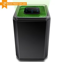 Air Purifier for Home, 5 Speed Settings, 3 Stage Filtration, DC Motor for Smokers, Dust, Pets, Pollen, Air Cleaner with High CADR 130m/H, Night Light for Bedroom Office