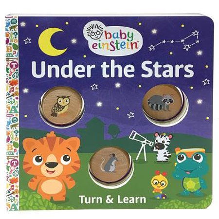 Baby Einstein Under the Stars: Turn and Learn Wood Disc Board Book (Board Book)