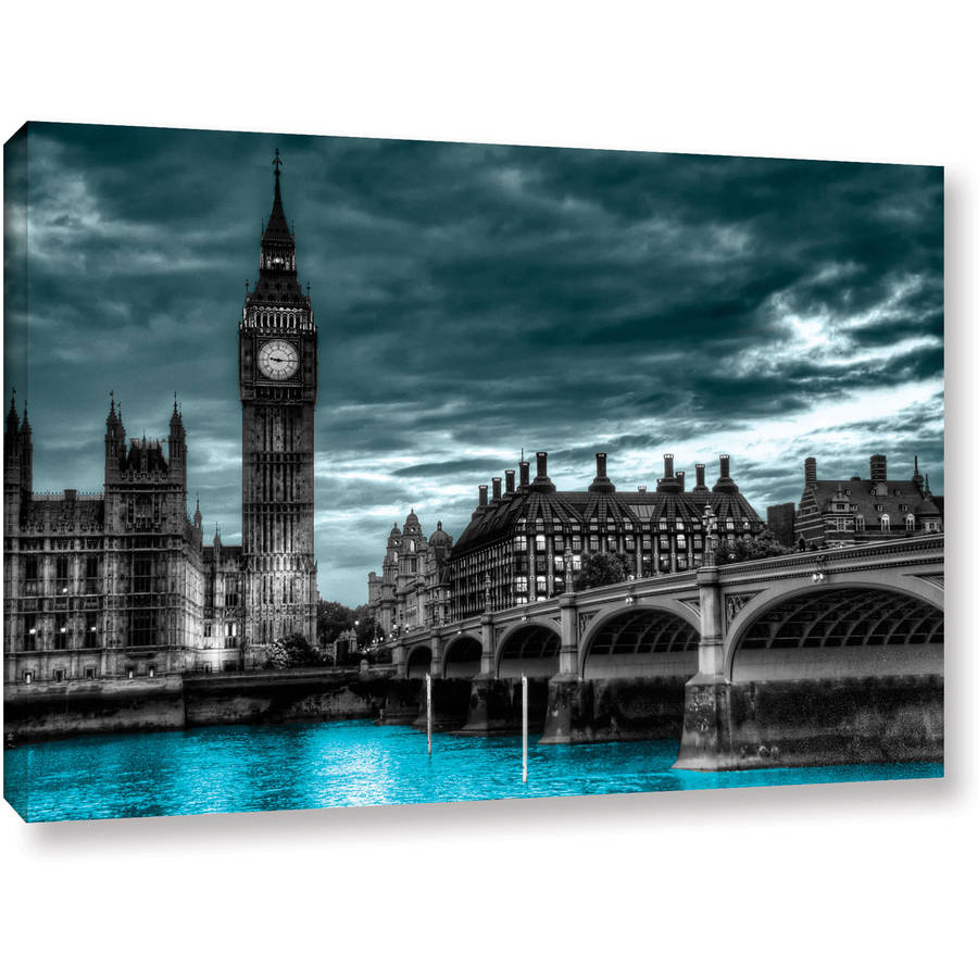 "ArtWall Revolver Ocelot ""London"" Gallery-Wrapped Canvas"