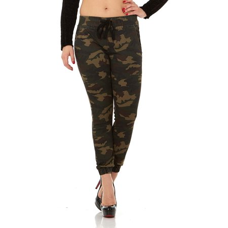 Sales promotion moderate price buy best CG JEANS Juniors Army Camo Camouflage Skinny Ladies Stretch Joggers, 5