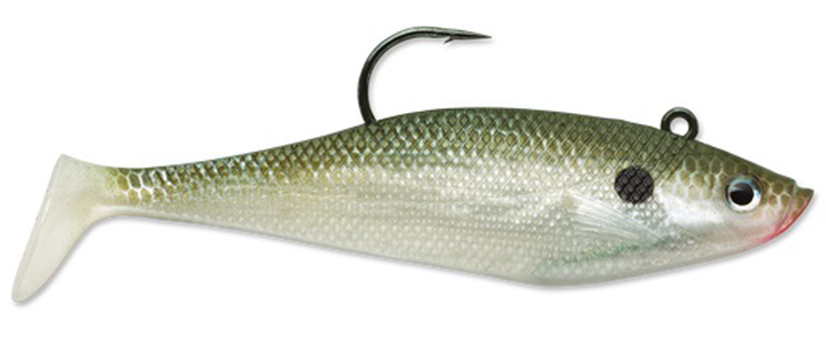 Click here to buy Storm Wildeye Swim Shad 3-inch Fishing Lures (3-Pack) Olive Shad by Storm.
