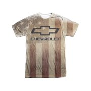 Chevrolet Automobiles Chevy American Pride Faded Adult Front Print T-Shirt