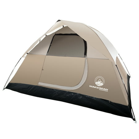 4 Person Or 6 Tent Water Resistant Dome For Camping With Removable Rain Fly And Carry Bag Rebel Bay By Wakeman Outdoors