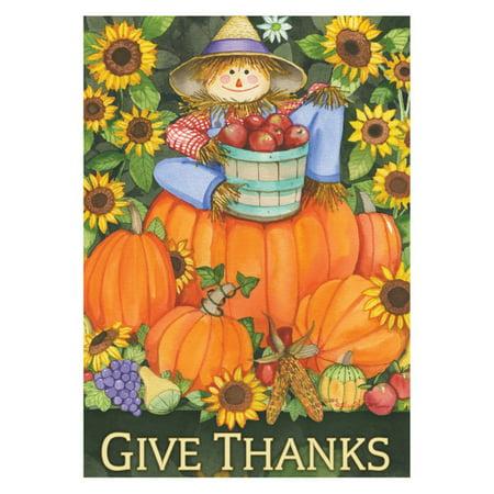 - Toland Home Garden Scarecrow Harvest Flag