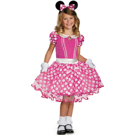 Pink Minnie Tutu Prestige Child Costume (Adult Mickey And Minnie Costumes)
