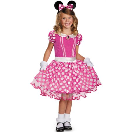 Pink Minnie Tutu Prestige Child Costume](Mickey And Minnie Halloween Costumes For Girls)
