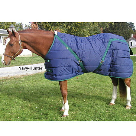 Quilted Pony - Snuggie Quilted Pony Stable Blanket 62In Navy/Hunt