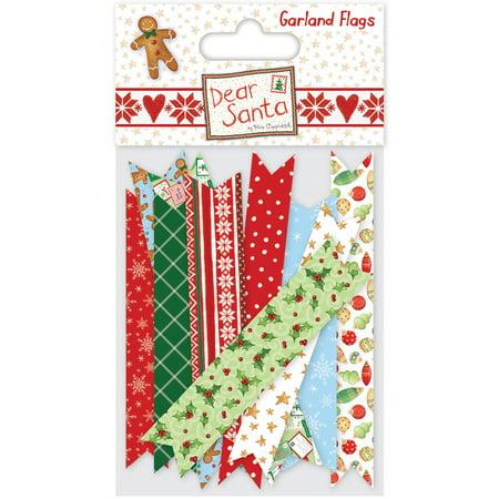Helz Dear Santa Garland Flags-