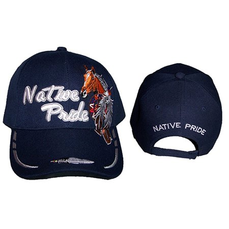 Horse & Feathers Native Pride Baseball Caps Hats Embroidered (CapNp667  ZW)](Horse Hat)