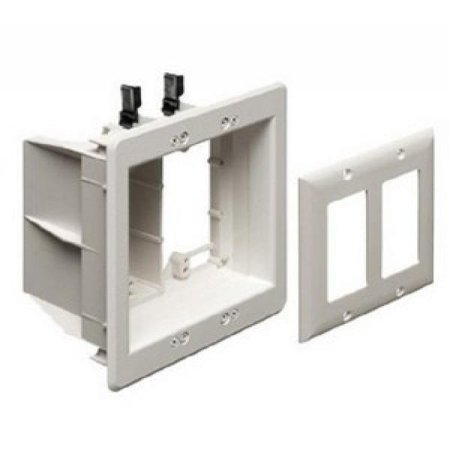 Arlington TVBU505GC Two-Gang Recessed Electrical Box with Grounding Clip - image 1 of 1
