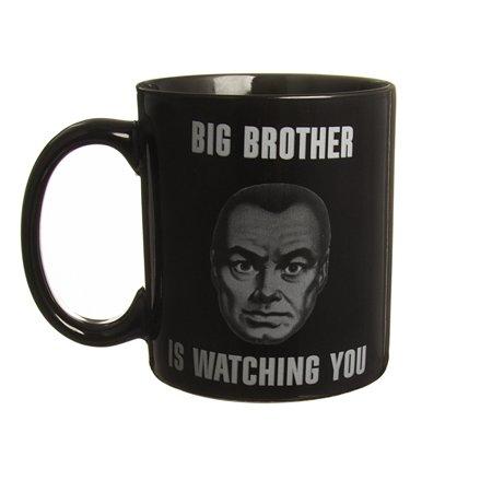 Big Brother 11oz Black Ceramic Coffee Mug Porcelain Novelty Tea Cup 1984 Orwell](Big Cups)