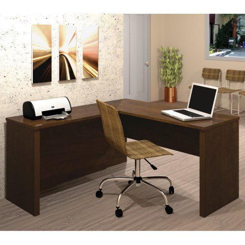 Bestar Prestige + L-Shape Computer Desk in Chocolate
