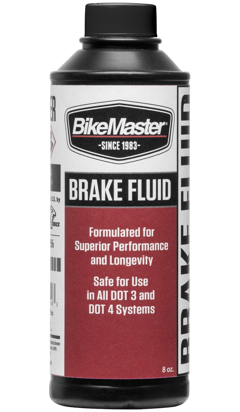 BikeMaster 531857 DOT 4 Brake Fluid 8oz. by BikeMaster