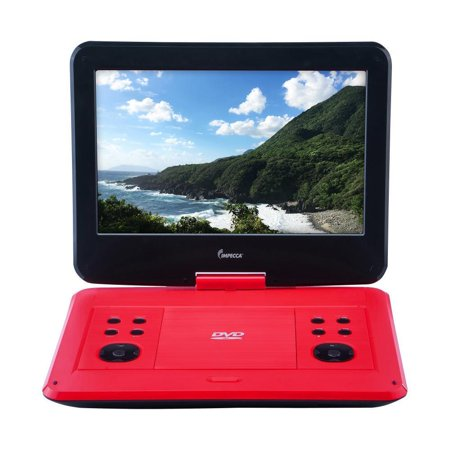 IMPECCA Portable DVD Player with 13.3-inch 180-degree Widescreen LCD, Scarlet Dy