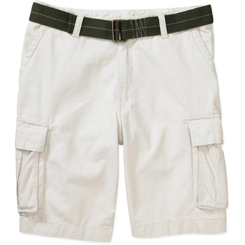Faded Glory - Big Men's Belted Home Run Cargo Shorts