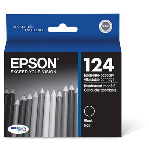 Epson DURABrite Ultra Ink Black 124 Moderate-Capacity Use Ink Cartridge (T124120)