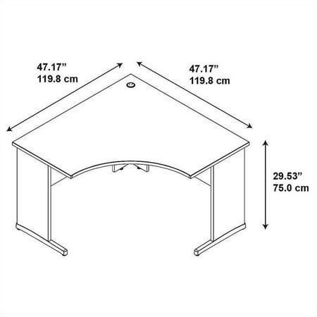 Scranton & Co 48W x 48D C-Leg Corner Desk - image 1 de 5