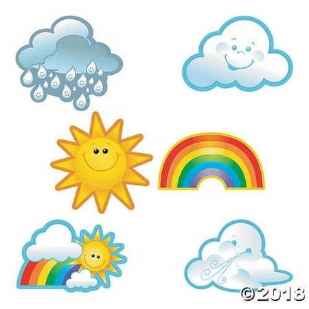 Rainbow & Sunshine Bulletin Board Cutouts - Sun Bulletin