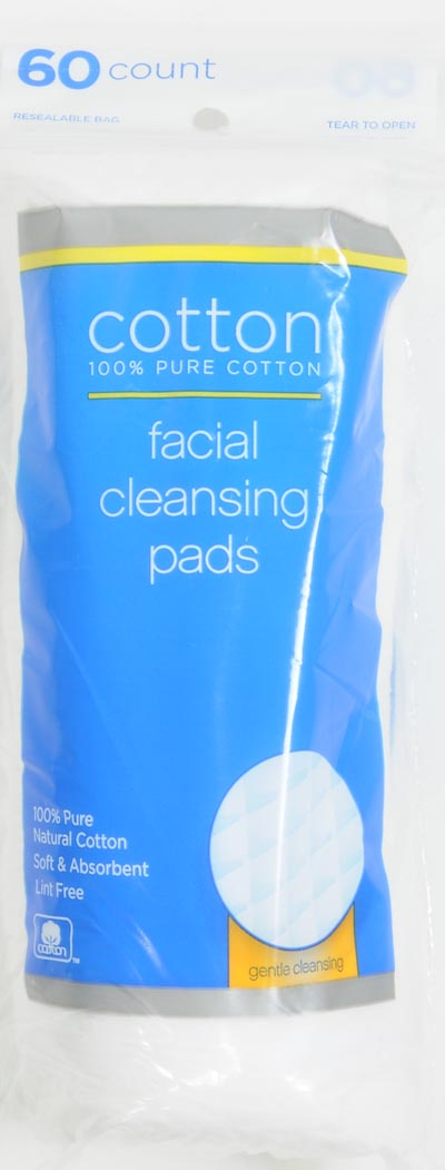 Cotton facial cleansing pads