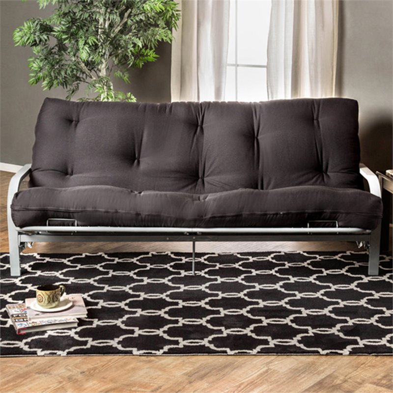 "Furniture of America Brocko 70"" x 50"" Futon Mattress in Black"